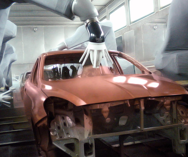 External charge carbody finishing