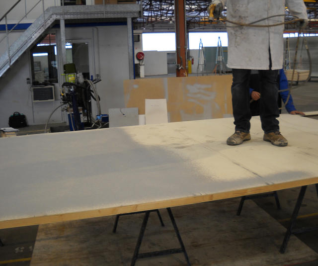 Thor+Xcite solution on plywood