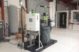 E60 unit from pump to applicator
