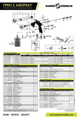NA FPro S suction spare part sheet
